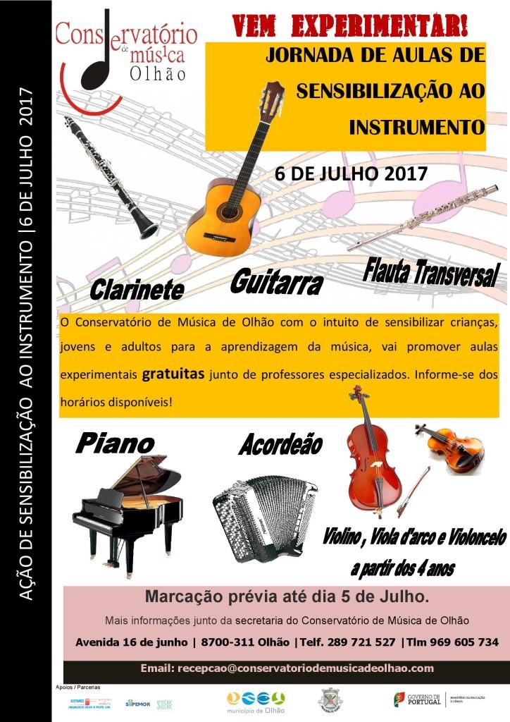 cartaz AULAS de sensibilização ao instrumento 2ª JORNADA_2017